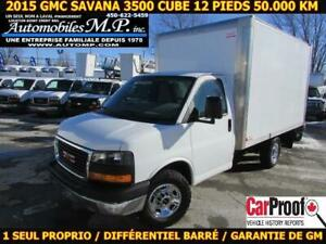 2015 Gmc Savana 3500 ROUE SIMPLE 50.000 KM CERTIFIÉ