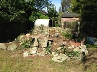 Free Rockery Stones & Tin Shed