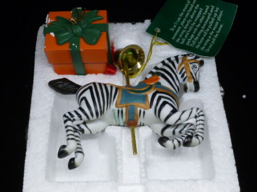 Pull String Music Box Zebra Hanging Ornament Heritage House Plays  Lara
