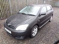 TOYOTA COROLLA 1398cc 2006 112,000 MILES 5 DOOR BLACK MOT TILL 6/07/17 SERVICE HISTORY ONE OWNER