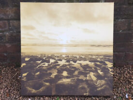 Canvas picture, beach at sunset £3