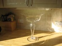 Tall stemmed glass dish in Beautiful condition (Reduced price)