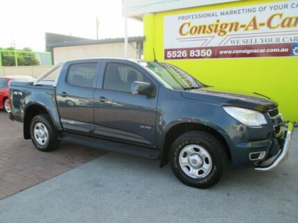 2012 Holden Colorado RG MY13 LX Crew Cab Blue 6 Speed Sports Automatic Cab Chassis Bundall Gold Coast City Preview