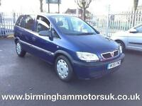 2005 (55 Reg) Vauxhall Zafira 1.6I 16V LIFE 5DR MPV BLUE + 7 SEATS
