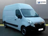 2014 Vauxhall Movano F3500 L2H3 P/V CDTI Diesel white Manual