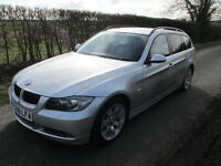 2006 BMW 325 2.5I SE TOURING ESTATE AUTO AUTOMATIC SILVER WITH BLACK LEATHER