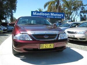 1998 Ford Fairmont AU Ghia Burgundy 4 Speed Automatic Sedan Tuncurry Great Lakes Area Preview