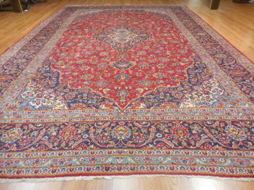 C1940 Vg Dy Antique Persian Classic Design Shadsar Kashan 10x15 Estate Sale Rug