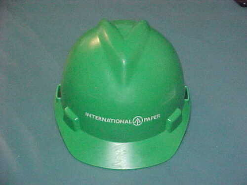 Vintage International Paper Company Green industrial HardHat ~ Medium