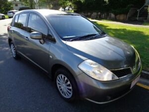 2009 Nissan Tiida C11 MY07 ST Grey Metallic 4 Speed Automatic Hatchback Chermside Brisbane North East Preview