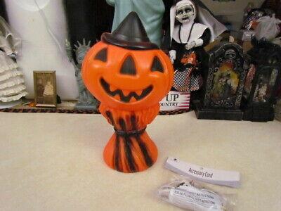 14 Inch Empire Halloween Pumpkin Head/Corn Stalk Lighted Blow Mold w/L. Cord Ex.