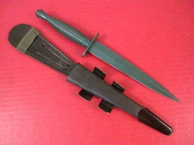 post-WWII Era British F/S Fairbairn-Sykes Fighting Knife 3rd Pattern - OD Green