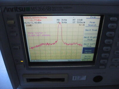 Anritsu Ms2663b Spectrum Analyzer Tested 9 Khz - 8.1 Ghz Bw Color Display