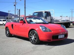 2001 Toyota Mr2 ZZW30R Spyder Red Sequential Manual Convertible Beckenham Gosnells Area Preview