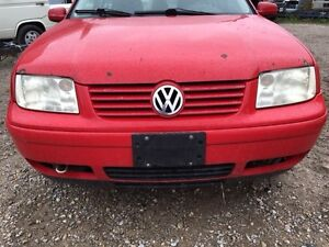 Parting out 2001 VW Jetta Mk IV Tornado Red