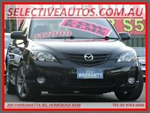 2006 Mazda 3 BK MY06 Upgrade SP23 Black 5 Speed Auto Activematic Hatchback Homebush Strathfield Area Preview