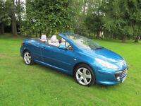 2006 56 reg Peugeot 307 CC 2.0 16v ( 140bhp ) Coupe Sport netherton cars