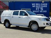 2015 Toyota Hilux KUN26R MY14 SR Double Cab White 5 Speed Automatic Utility Welshpool Canning Area Preview
