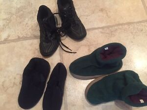 size 11 young child slippers and runners