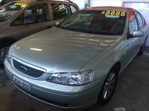 2002 Ford Falcon BA Futura Lime Green 4 Speed Sports Automatic Sedan Fyshwick South Canberra Preview