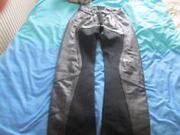 Richa leather motorcycle trousers size 12
