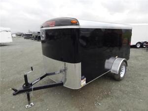 NEW 5x10 BLACK ENCLOSED CARGO TRAILER 2990lb