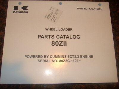 Kawasaki 80zii Wheel Loader Parts Manual