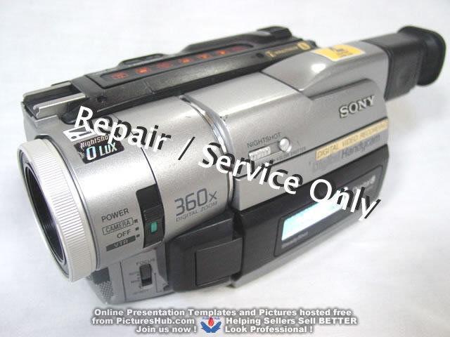 REPAIR / SERVICE of SONY Handycam DCR-TRV810 510 310 110 Camcorder (*READ 1st*)