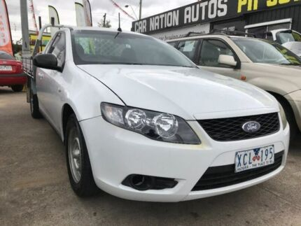 2009 Ford Falcon FG Super Cab White 4 Speed Sports Automatic Cab Chassis