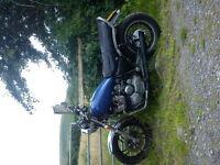 yamaha xj 650 maxim, classic japanese 80's 4 cylinder motorbike.