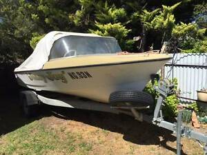 1968 Pongrass 15ft Runabout + 1996 Johnson 70 hp + Trailer Inverell Inverell Area Preview