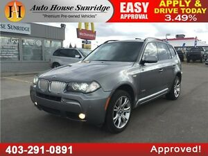 2009 BMW X3 30i AWD, NAVI, MOONROOF, M PACKAGE EXTREMELY RARE!!!