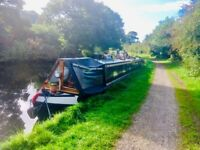 60ft narrowboat ready to move in