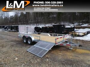"NEW 2018 N&N 82"" X 16' LANDSCAPE TRAILER- SIDE GATE"