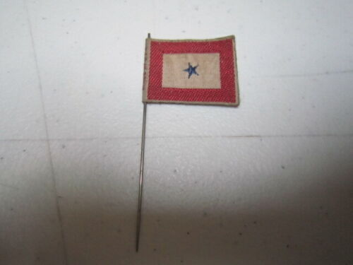 "Antique WWI or WWII Cloth Flag ""Sons in Service"" Pin"