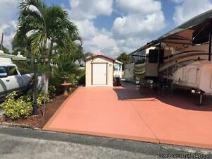 Naples Florida RV Concrete Pad for Sale at Holiday Manor