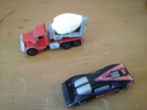 Hot Wheels Cement Truck and a Car