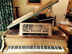 """Beautiful Erard Boudoir Grand Piano, (5ft 10"""") 1909. Rosewood case. Recently overhauled,fine playing"""