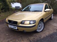 2001 (Y) Volvo S60 2.0T S Manual 4 Door Saloon E finished in Gold