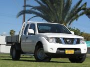 2013 Nissan Navara D40 S7 MY12 RX King Cab White 5 Speed Automatic Cab Chassis Cheltenham Charles Sturt Area Preview