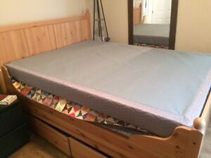 Queen Box Spring and Metal Frame, mint condition