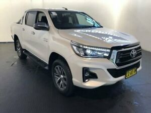 2018 Toyota Hilux GUN126R MY19 SR5 (4x4) Crystal Pearl 6 Speed Automatic Double Cab Pickup Belmore Canterbury Area Preview