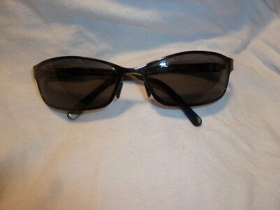 Maui Jim Sunglasses MJ 114-02 BLACK/Bone Good Condition Made in ITALY