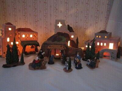 Dept 56 Little Town of Bethlehem Nativity Set 12 Pieces Heritage Village Lighted