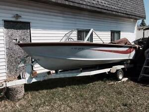 Boats 14 ft. + two 24 ft. with cuddys sell/trade tractor atv etc