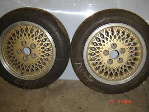 Jantes alum &pneus 195/55R 15 (2)