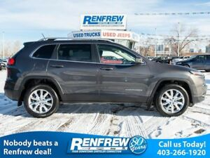 2015 Jeep Cherokee 4WD Limited, Dual-Pane Sunroof, Navigation, R