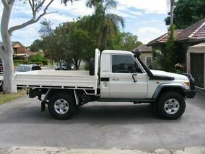 2012 Toyota Landcruiser VDJ79R MY12 Update GX (4x4) White 5 Speed Manual Cab Chassis Kingsgrove Canterbury Area Preview