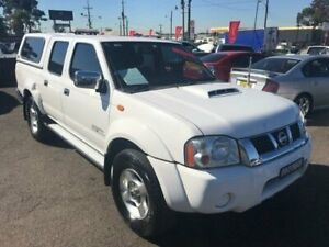 2013 Nissan Navara D22 S5 ST-R White Manual Utility Lansvale Liverpool Area Preview