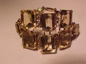 "#1352-ANTIQUE 14K ROSE GOLD-56.00cts-GOLDEN TOPAZ QUARTZ-7""-"